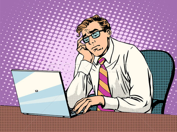 6564055_stock-vector-businessman-working-on-laptop-boredom